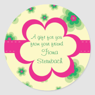 Quilted Floral Gift Sticker