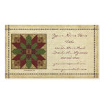 Quilted Green Burgundy Star Pack Of Standard Business Cards