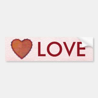 Quilted Heart Bumper Sticker