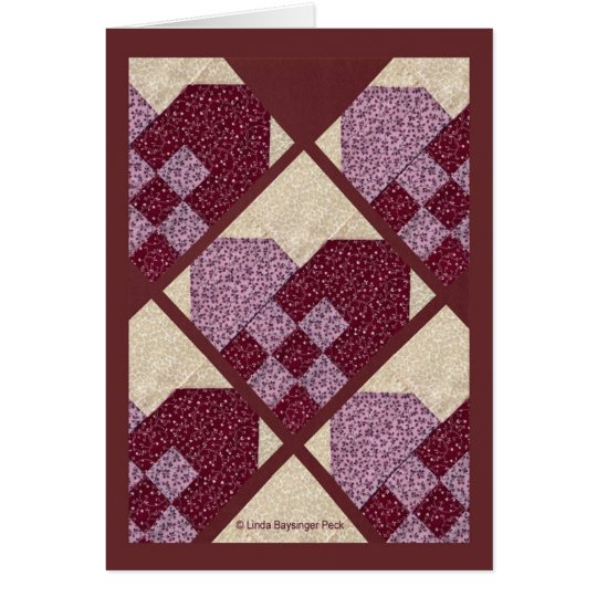 Quilted Hearts Card