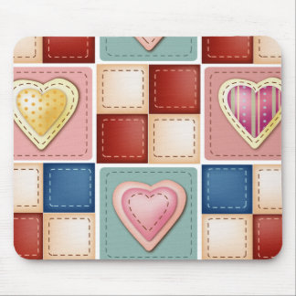 Quilted Hearts Mouse Mat