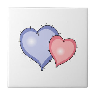 QUILTED HEARTS CERAMIC TILE