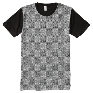 Quilted Hooks and Eyes All-Over Print T-Shirt