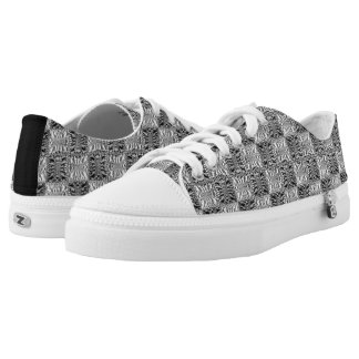 Quilted Hooks and Eyes Printed Shoes
