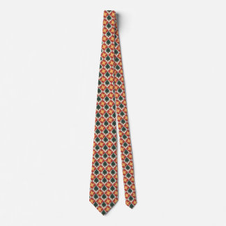 Quilted Pine Trees Yellow Star Tie