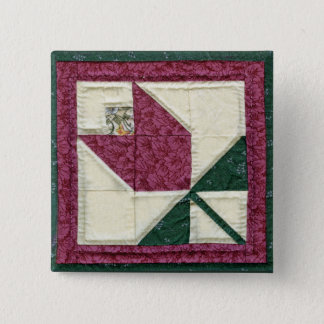 Quilted Potholder Tulip Pin
