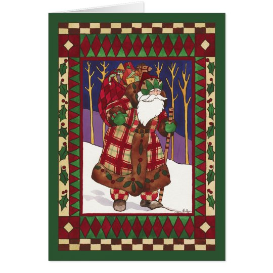 QUILTED SANTA CARD