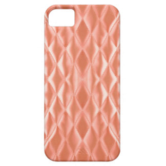 Quilted satin, peach iPhone 5 cases