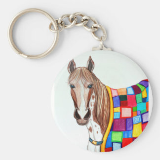 Quilted Stallion Key Ring