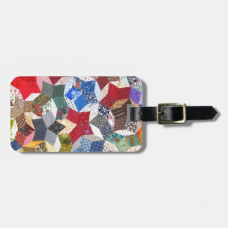 Quilted Stars Luggage Tag
