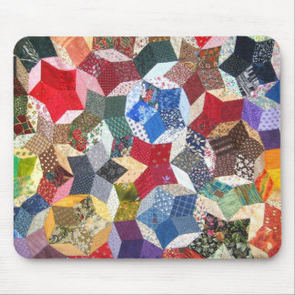 Quilted Stars Mouse Mat