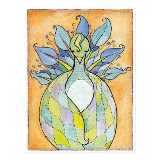 """Quilted Wings"" Original Artwork Postcard"
