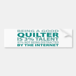 Quilter 3% Talent Bumper Sticker