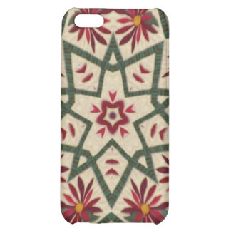Quilter flower star cover for iPhone 5C