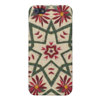 Quilter flower star cover for iPhone 5