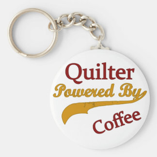 Quilter Powered By Coffee Key Ring