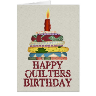 Quilters Birthday Greeting Card