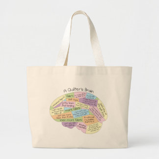 Quilter's Brain Large Tote Bag