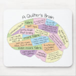 Quilter's Brain Mouse Pad