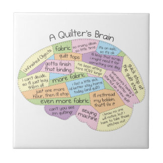 Quilter's Brain Small Square Tile