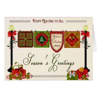 Quilter's Christmas Greeting Card