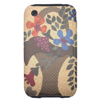 Quilters phone basket iPhone 3 tough cover