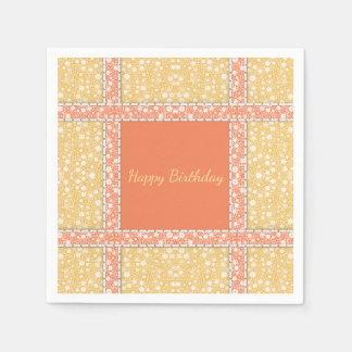 Quilter's Summer Party in Yellow & Orange Calico Paper Napkin