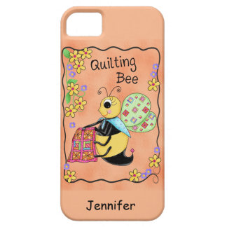 Quilting Bee Whimsy Honey Bee Yourself Art Barely There iPhone 5 Case