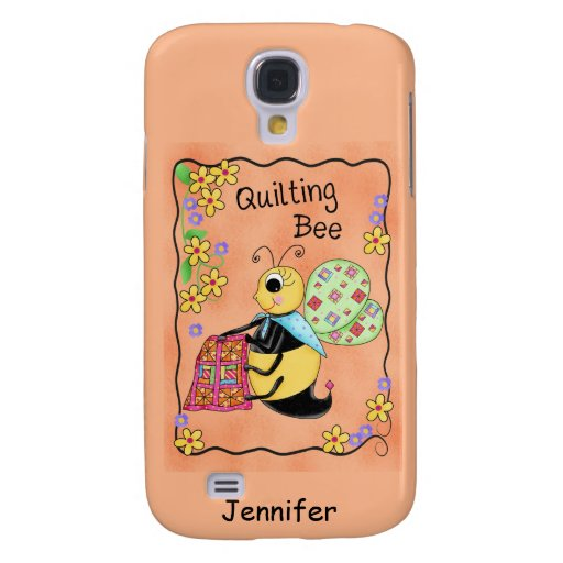 Quilting Bee Whimsy Honey Bee Yourself Art Galaxy S4 Cases