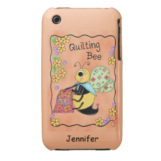 Quilting Bee Whimsy Honey Bee Yourself Art iPhone 3 Cases