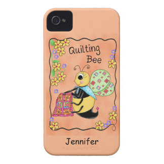 Quilting Bee Whimsy Honey Bee Yourself Art iPhone 4 Covers