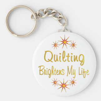 Quilting Brightens My Life Key Ring