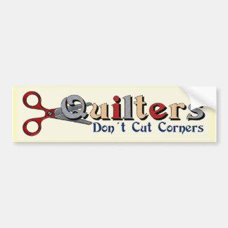Quilting Corners Car Bumper Sticker
