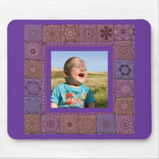 Quilting  Enthusiast Photo Template Mouse Pad
