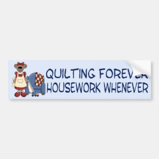 Quilting Forever Bumper Sticker