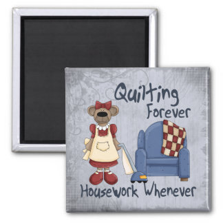 Quilting Forever Square Magnet