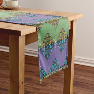 Quilting in Purple & Green Chevrons