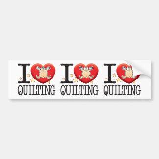 Quilting Love Man Bumper Sticker