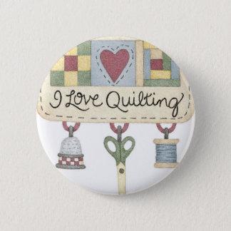 Quilting merchandise 6 cm round badge