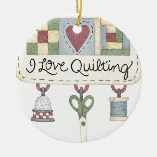 Quilting merchandise christmas ornament