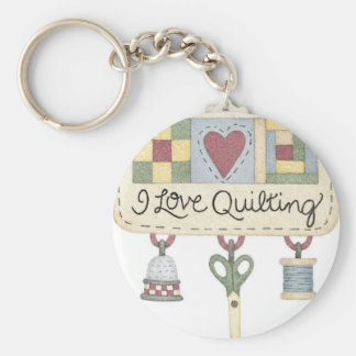 Quilting merchandise key ring