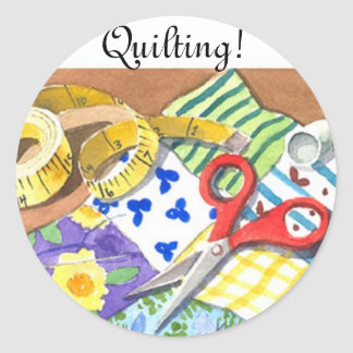 Quilting Notions Classic Round Sticker