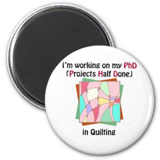 Quilting PhD Refrigerator Magnet