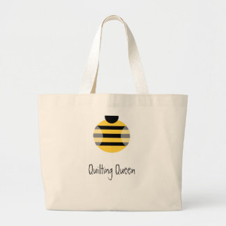 Quilting Queen Large Tote Bag
