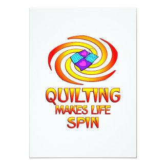 Quilting Spins 13 Cm X 18 Cm Invitation Card