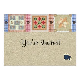 Quilting Tea Party Invitation