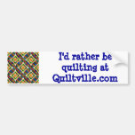 Quiltville Bumper Sticker