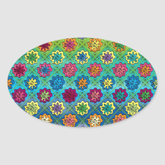 Quilty as Charged Oval Stickers