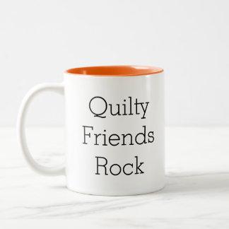 Quilty Friends Rock coffee mug