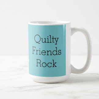 Quilty Friends Rock graphic mug